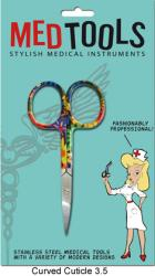 "3.5"" Cuticle Scissors, Curved with Fun Design"
