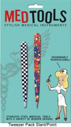Point & Slant Tweezers with Fun Design Combo Pack