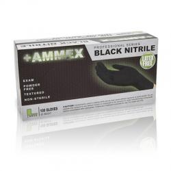 AMMEX Powder Free Textured Black Nitrile Gloves [1000]
