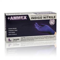 AMMEX Powder Free Textured Indigo Nitrile Gloves [1000]