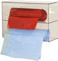 Bag Dispenser, double, clear plastic
