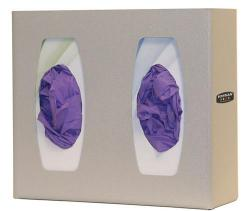 Glove Box Dispenser - Double with Divider, Quartz Beige ABS Plastic