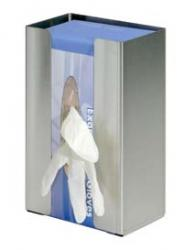 Larger Glove Dispenser, single, adjustable, stainless steel