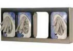 Quad Glove Box Holder with Dividers, stainless steel