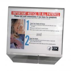 Horizontal Sign Holder, clear plastic