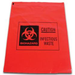Biohazard Waste Bags, ziploc, 1 gallon [pack of 12]