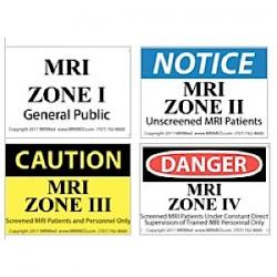 MRI Zone Sign Combo Pack