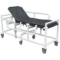 MRI Conditional PVC Sling Gurney with Pad and Adjustable Headrest