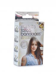 Metallic Tattoo Bandages [Pack of 20]