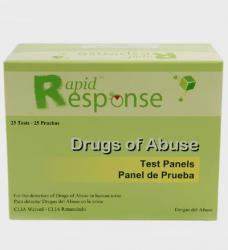 Rapid Response Drugs of Abuse 10-Panel Tests [box of 25]