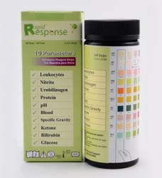 Rapid Response™ 10 Para (10SG) Urinalysis Reagent Test Strips