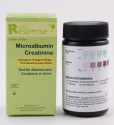 Rapid Response™ 2 Parameter Urinalysis Microalbumin 2-1 Combo Strips [25 Tests/Kit]